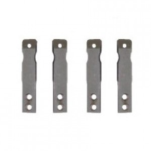 Lateral stainless steel bars for carbon orthosis