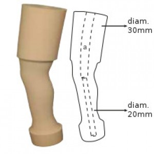 After knee foam cover for children