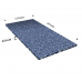 Width: 2070 x 1030 mmColors: Blue, light blue and  whiteFoam thickness: 45 mmSlicing sheet(s) in the thickness: No slicing